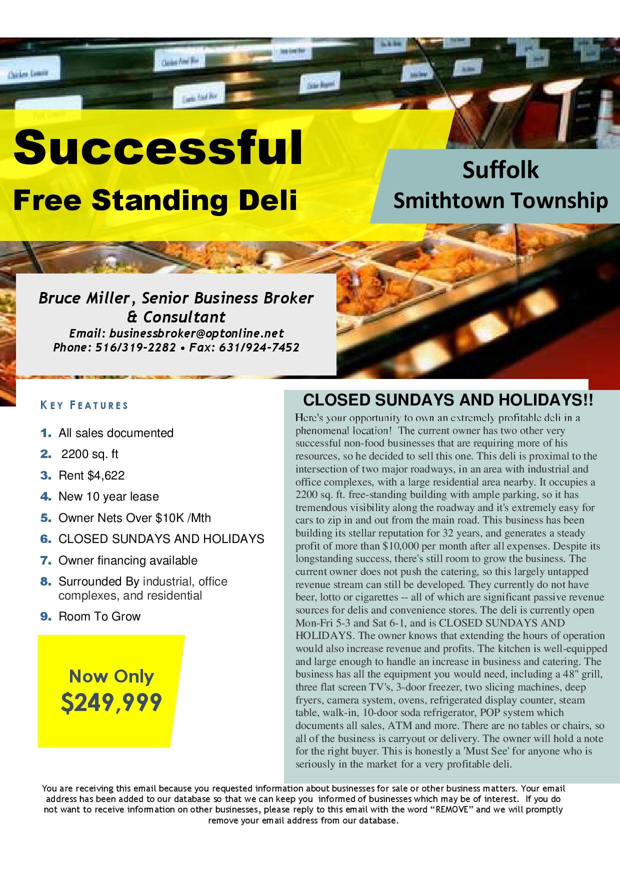 Business for Sale SMITHTOWN, SUFFOLK, NEW YORK, USA